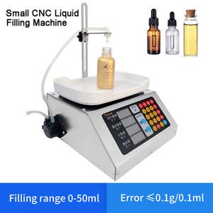 0-50ml Petit automatique CNC liquide Machine de remplissage 110V-220V boissons Lait parfum remplissage Sous-chargement de pesée Machine de remplissage