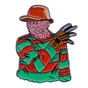 Griffes de la nuit Freddy Krueger Horror Movie épinglette Effrayant Halloween cadeau
