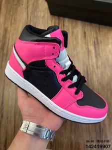 2020 Novo 1 Mid GS Pinksicle Basquete Calçados Mulheres sapatilhas do desenhista cestas 1s sapatos casuais doce cor Reflective Luz Formadores