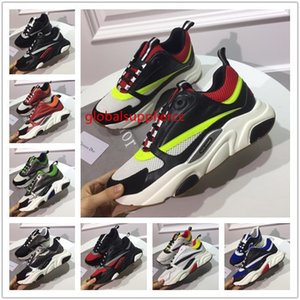 Top Quality Canvas And Calfskin Trainers Sneakers Mens Womens B22 Trainers Technical Knit Colorful Running Shoes Lovers Sports Shoe