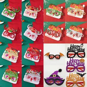 Feliz Natal Óculos Halloween Natal Costume óculos de armação Óculos Adulto Miúdos do Natal Spectacle Quadro Óculos Fotografia Props