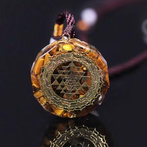 Orgonite collana Sri Yantra Pendant Geometria Sacra occhi di tigre collana di energia per le donne gli uomini CX200721 Jewelry