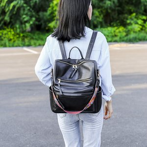 Fashion Design OL Packback Versatile Zipper Women Sholder Bag PU Satchels School Bag For Girls SB001