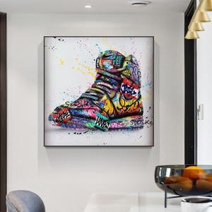 Chaussures Graffiti Art Affiches et copies sur toile Street Painting Fashion Wall Art Image pour Salon Home Design Décor