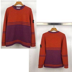 20SS Männer Pullover Männer-Frauen-Qualitäts-Rundhalsausschnitt Langarm Sweater Mens Casual-Sweatshirt Schwarz Größe M-2XL