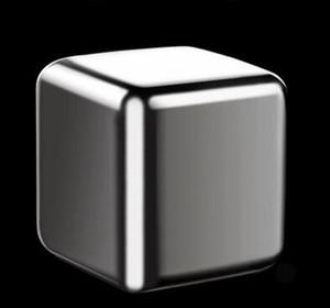 Нержавеющая сталь Виски Камни Ice Cubes Glacier Cooler камень Whiskey Rocks 8pc кубика льда + 1шт клип Бар KTV Инструменты GGA3590-6