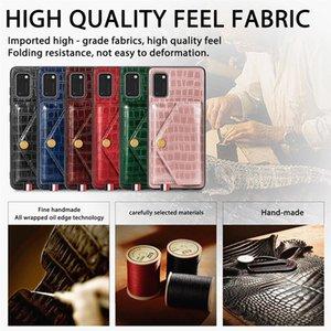 Support de fixation voiture magnétique en cuir pour Samsung A41 A11 A51 A21 A01 A71 A91 A81 M31 S20 Ultra Snake Slot carte stand Phone Housse
