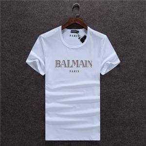 traje nuevo Desinger hombres jogging camiseta de la manera arriba raya blanca camisa de la mitad inferior de cuello redondo de manga ropa de moda camiseta