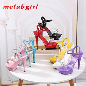 Mclubgirl Women's Sandals Heels Rhinestone Sandals Ladies Slippers And Women's For Women Ladies Snow Shoes LFD