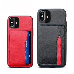 Slot pour carte Business Style Mode Phone Cases pour iPhone 11 PRO MAX iPhone XR XS 12 7 6 6 Plus Quatrième de couverture