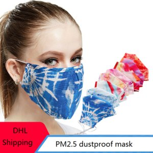 Baumwolltuch Masken PM2.5 Staubdichtes Masken Waschbar gebatiktem Half Face Mouth Adult atmungsaktive Baumwolle Masken