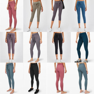 lulu Femmes Hot Yoga Pantalon taille haute Sport Gym Wear Leggings solides Couleur respirant stretch Tight Skinny Femmes Athletic Joggings b3zcfed7 #
