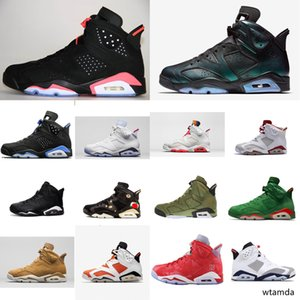 Cheap Men Retro 6s basketball shoes for sale J6 Infrared Black Blue UNC chameleon Slam Dunk Tinker AJ6 Jumpman VI sneakers tennis with box