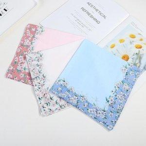 Candy Soft Sweatand Solid Floral Handkerchief Niñas Mano Hermosa Color Hermoso Color Plazas Impresas Mujeres para Toalla Algodón 45 cm Muñeca M0 Rirt