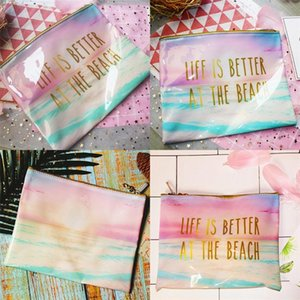Travel Storages Bags Cube Type PVC Printing Beach Bag Swimming Anti Water Cosmetic Sack Hot Selling 4 2oy L1