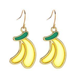 Fruit Earrings Banana Drop Earrings Pineapple Dangle Lemon Hook Earrings Cute Pendant Women Girls Trendy Summer Jewelry