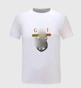 2020 newYear Luxury European popular T-shirt Letter Print Short Sleeve Round Neck Cotton Tee High Quality Couple Women Mens Designer T Shirt