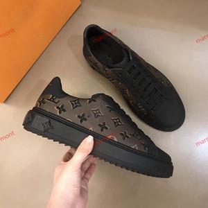 Louis Vuitton 2019 Nouveau Top hommes de qualité chaussures espadrilles mode appartements sport en cuir chaussures de sport classique Taille 38- 45 xshfbcl No Box
