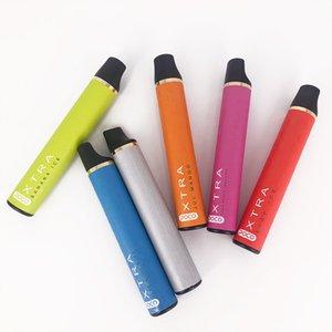 New Puff Xtra Disposable Vape Pen 1500puffs 5ml Pre-filled Cartridges Carts Pods Starter Kit Vaporizers e Cigs Bar System Device Vapor