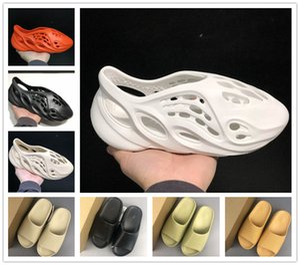 hochwertiger Schaum Läufer kanye west Clog V2 Sandalen triple schwarz wissen Dias Mode Pantoffel Mensbadesandale Flip Flops Frauen 36-45