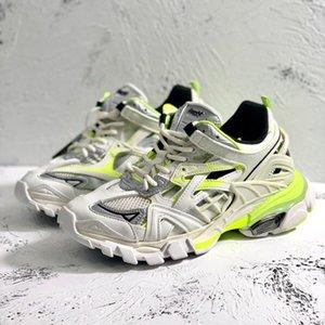 Luxo sapatos ao ar livre Homens de Calçados Calçados Femininos Track.2 Sneaker desinger calçados casuais do Laço-Acima Plano Sneakers Hot Sale Modelo