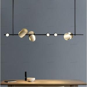 Modern personality creative hardware restaurant art villa model room designer living room bedroom long chandelier LLFA