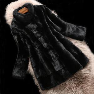 Luxury 100% Real Fur Coat Full Pelt Fur Cut Striped Thick Keep Warm Long Plus Size Oversize Natural Long Coat sr759