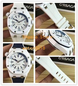 Moda WATHCES N8 fábrica 42mm 15703 15710 15710ST cerámica Bisel Asia mecánico automático de los hombres de Relojes de pulsera