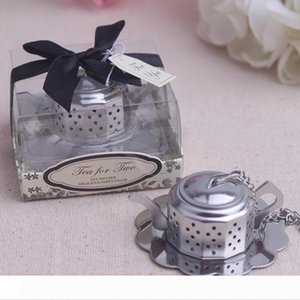 """New arrival 50pcs lot Wedding favors """"Tea for Two """" Teapot Tea Infuser Favors Bridal Shower Party Gifts Free shipping LX7837"""