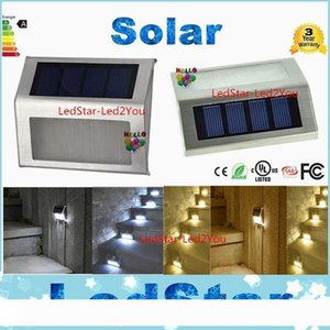 High Bright 2LED Solar Powered Stainless Steel Outdoor Corridor Pathway Stairs Driveway Flowerbeds Superior Durable white Light Lamp