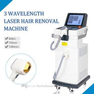 Stand 755nm 808nm 1064nm 3 Machine d'épilation à la longueur d'onde 808nm Diode Diode Épilation Laser FDA CE approuvé