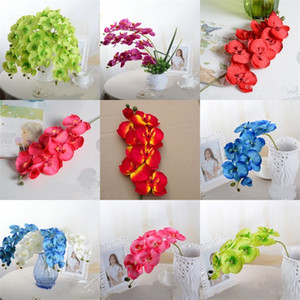 Simulation Phalaenopsis Fleurs artificielles Birthday Party fleur mur intérieur Plantes Décoration bricole bonne couleur Rich 2 5mC E2