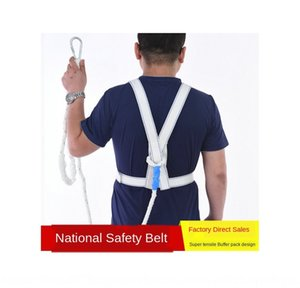 EJfKb Five-point hook High altitude working five-point double hook be safety belt for aerial work European-style safety belt with double bac