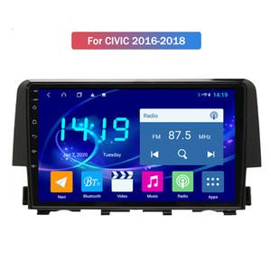 Honda CIVIC 2016 2017 2018 için Çerçeve ve Tel Araç Video Player ile Android Araba Radyo Multimedya Car Stereo carplay inşa