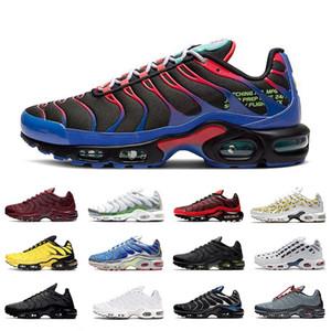 Высокое качество Парашют TN Plus Просто It Black Бред Sunburst Мужчины Бег Спортивная обувь Multicolor OG Подушка Спорт на открытом воздухе кроссовки 40-46