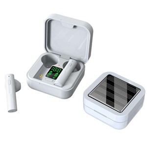 2020 mais novo carregador solar fone air6 mais TWS Bluetooth Headphone in-ear fones de ouvido bluetooth sem fio com display LED