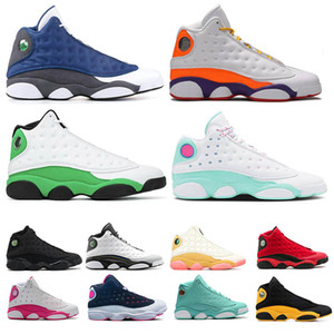 Nike Air Jordan retro 13  erkekler basketbol ayakkabıları Hare dmp yeni TRAVİS SCOTT yıkanmış Denim yeni siyah Kızılötesi 2019 yansıtıcı Kızılötesi spor Sneaker