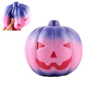 7CM Hallowmas Squishy Starry Rainbow Pumpkin Slow Rising Toys Squishies Hand Squeezed Toy Children Gifts Halloween Decoration HH9-2400