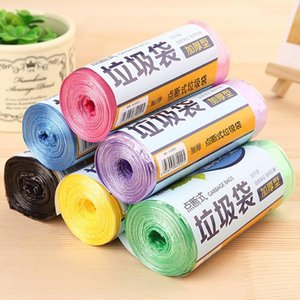 Trash Bags 320 Volumes pack PE Storage Bag Household Cleaning Thick Trash Bags Disposable Blue Red Violet Green Yellow