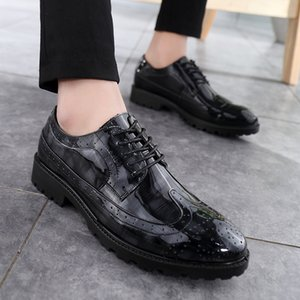 Formal Oxford Shoes For Men fashion Wedding Shoes Leather Italy round Toe outdoor Mens Dress Sapato Oxford Masculino