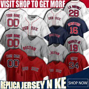 34 David Ortiz 28 J. D. Martínez Jersey Boston jerseys Venta Sox de béisbol de encargo roja Andrew Benintendi jerseys Jackie Bradley Jr. Jersey, Chris