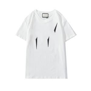 Mens конструктора тенниски 2020 Новое лето тройники Мода Отражающие Печать Tops Casual HipHop Светящиеся футболки 2020 Высокое качество одежды