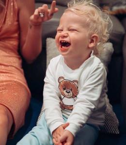 키즈 가을 운동복 베어 패턴 여자 풀오버 활성 소년 후드 어린이 의류 도매 차일 스웨터