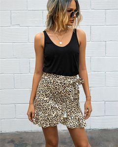 Designer Femmes Jupes points imprimé floral plissé Jupe mi taille Midi Sexy Summer Ruffle Vêtement