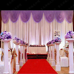 Hot Sale Wedding Backdrop Curtain Beautiful Wedding Decorations 6m*3m Background Scene Wedding Decor Supplies High Quality Ice Silk