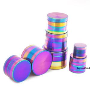 Rainbow Grinders Ice Grinder Zinc Alloy Metal Grinders 40mm Diameter 4 Parts Herb Grinders Herb Crushers Towel