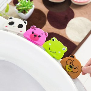 Toilet Cover Lifting Device Toilet Seat Cover Cartoon Lid Opener Cute Cartoon Portable Bathroom Cover Help 4 Colors