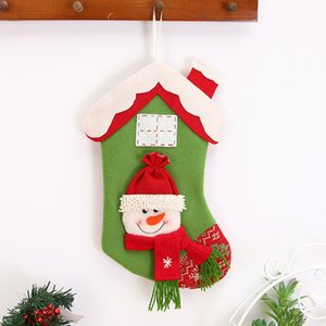 Christmas Gifts Candy Beads Bag Christmas Santa Claus Snowman Socks Decorations For Home New Year 2020