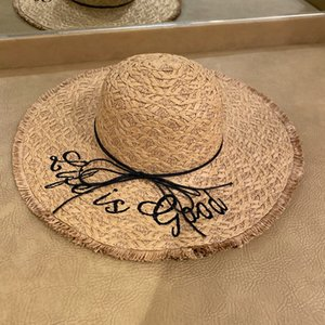2020 big edge straw rope straw hat sunscreen sunshade breathable female summer holiday leisure beach big eaves sun hat