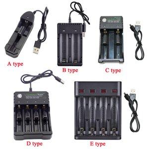 cargador de batería recargable 18650 14500 1.2V 3.7V Li-ion 1/2/3 puerto Ranura 18350 Baterías adaptador de carga USB de 5V